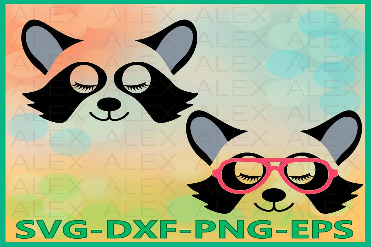 Raccoon Face Svg, Raccoon Svg, Animal face svg example image 1