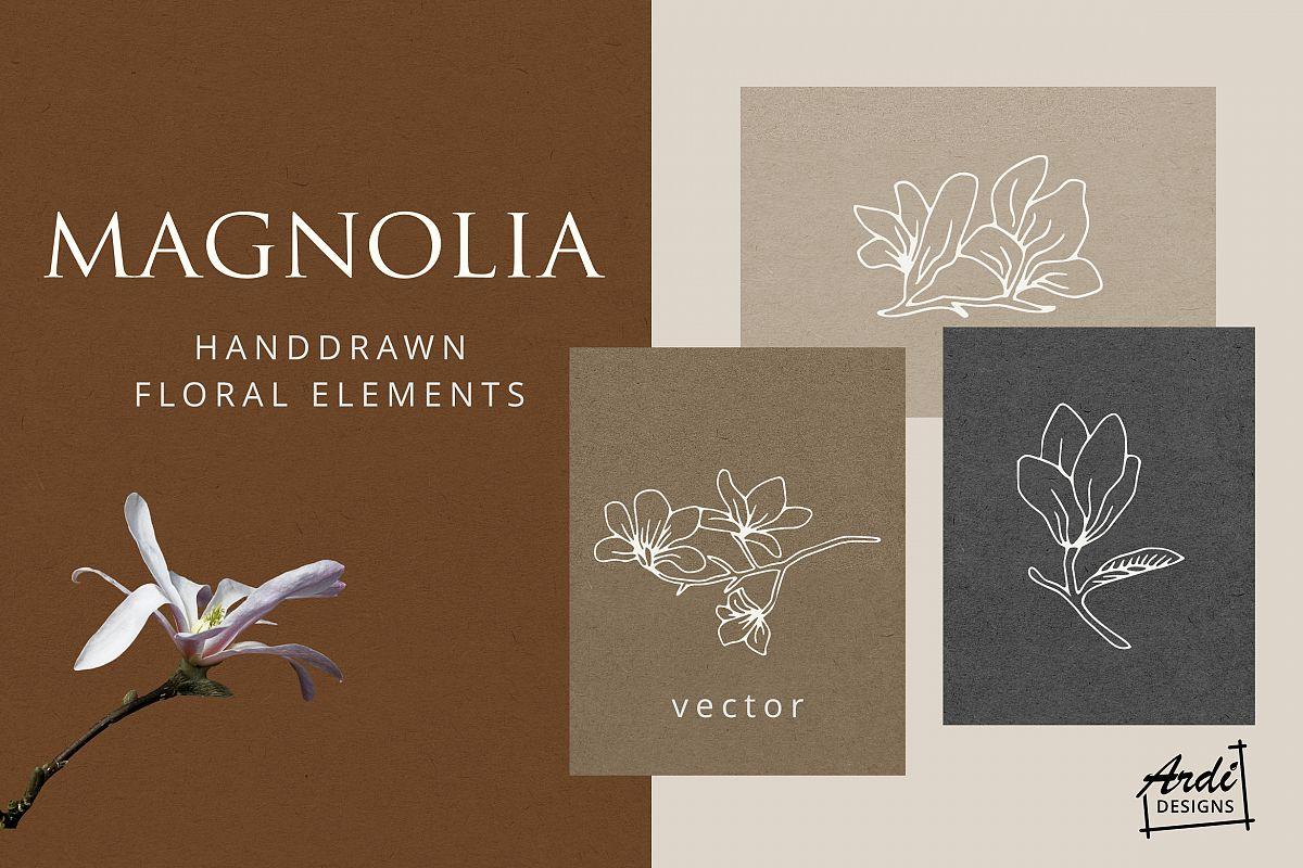 Magnolia Illustration example image 1