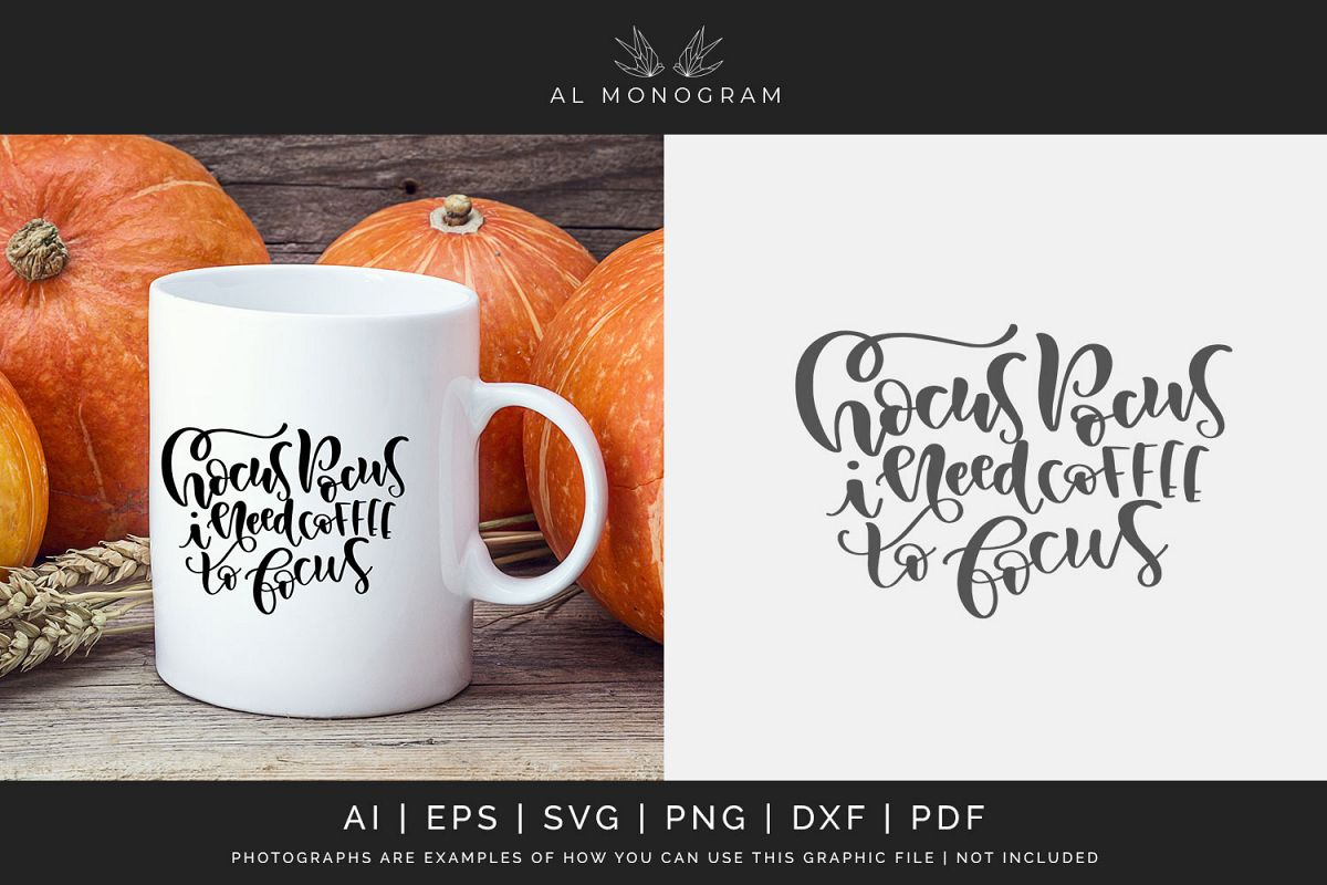Hocus Pocus Coffee Halloween SVG Digital Laser Cut example image 1