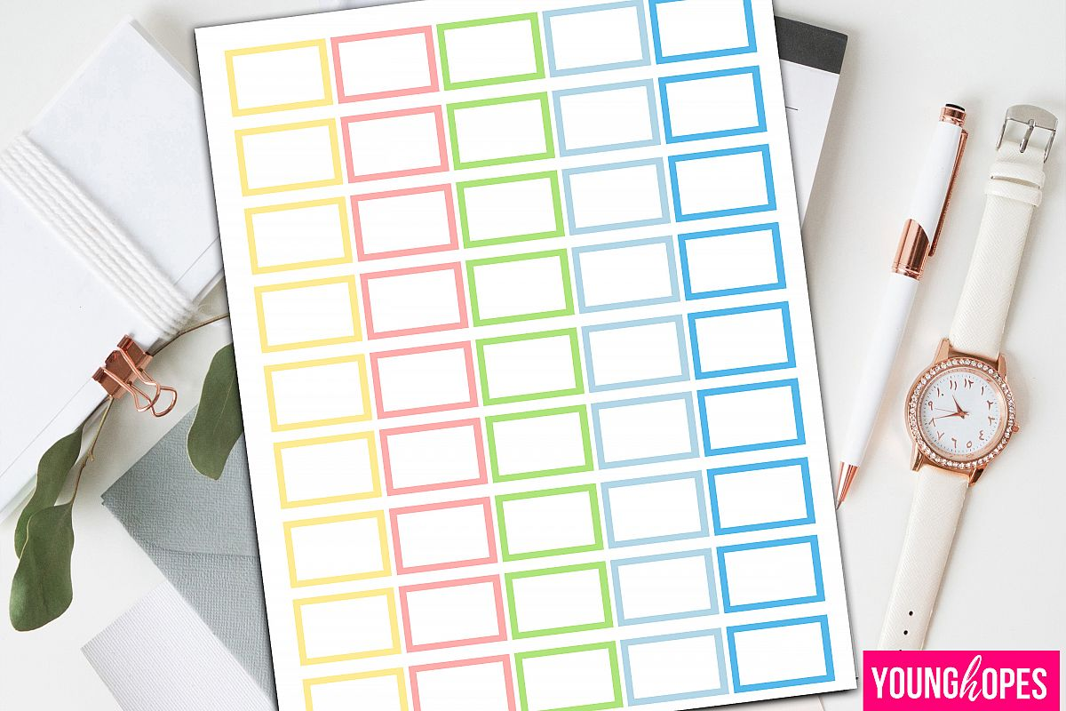 Spring Half Box Planner Stickers-Blank Planner Stickers example image 1
