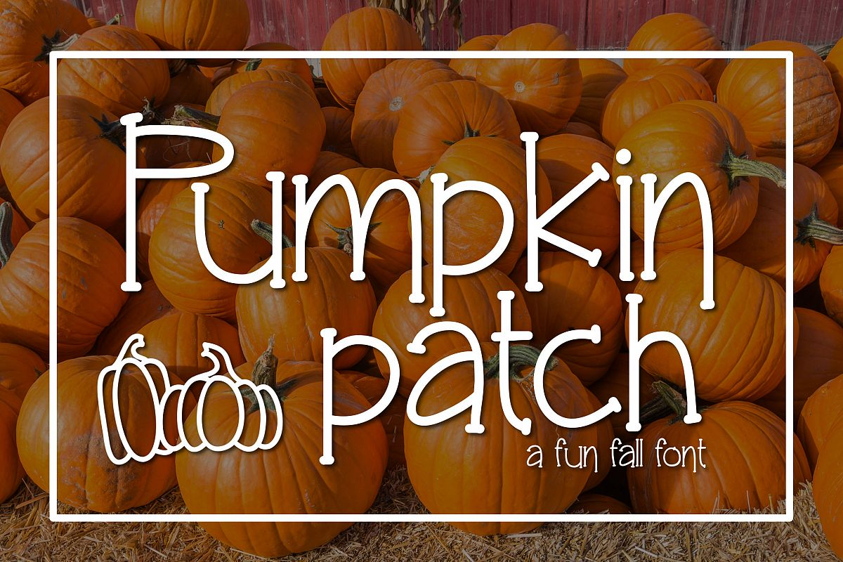 Pumpkin Patch a Fun Serif Font example image 1