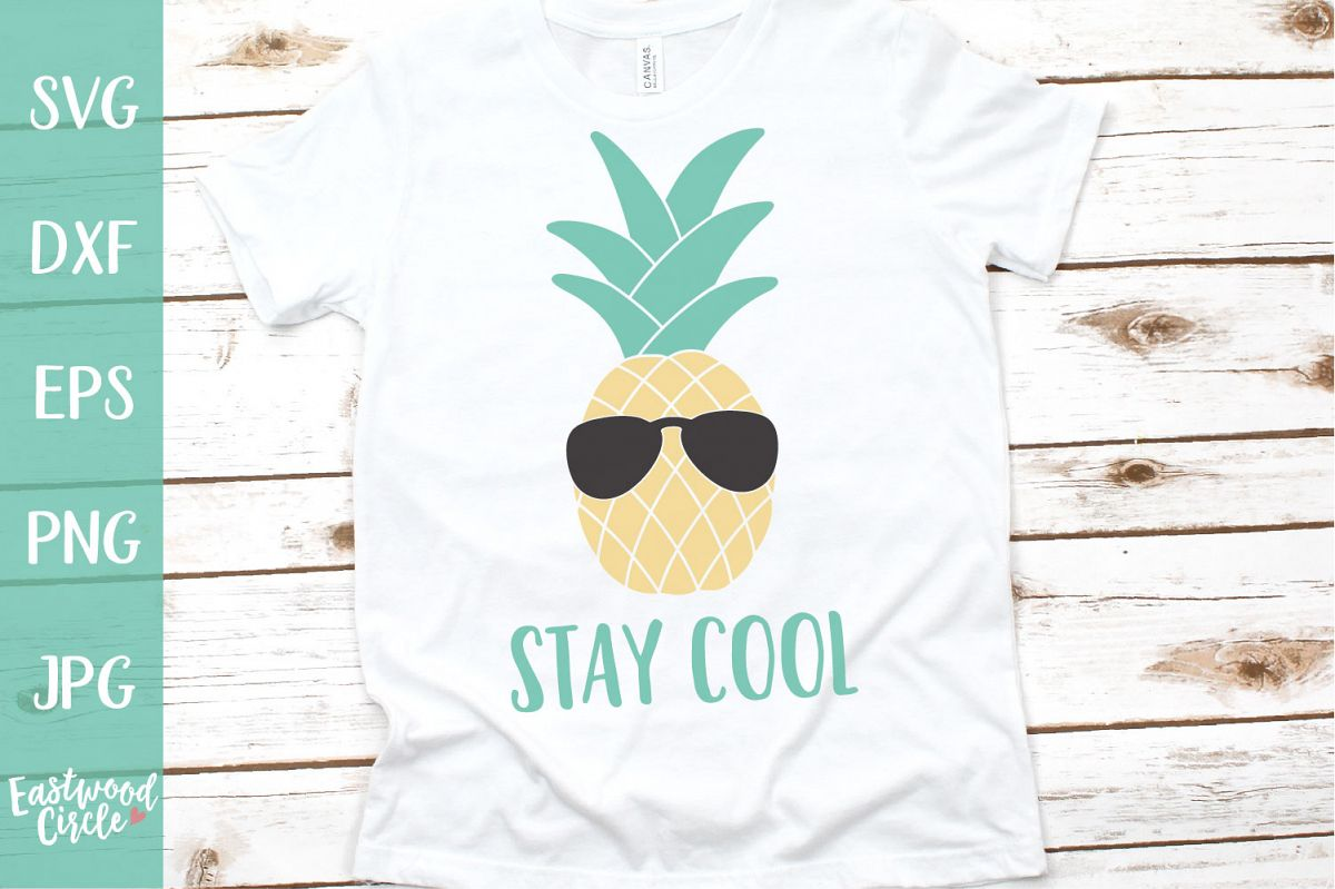 Stay Cool with Pineapple - A Summer SVG File example image 1