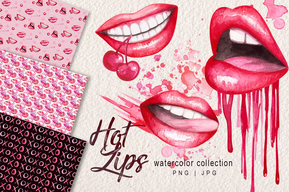 Watercolor Lips Collection example image 1