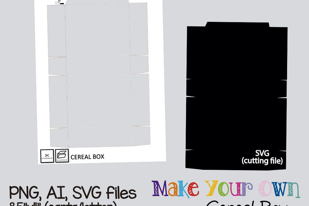 Cereal Box Template Collage Sheet Digital Printable