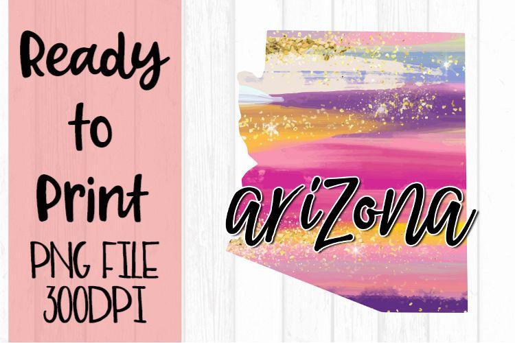 Arizona Painted States Ready to Print example image 1