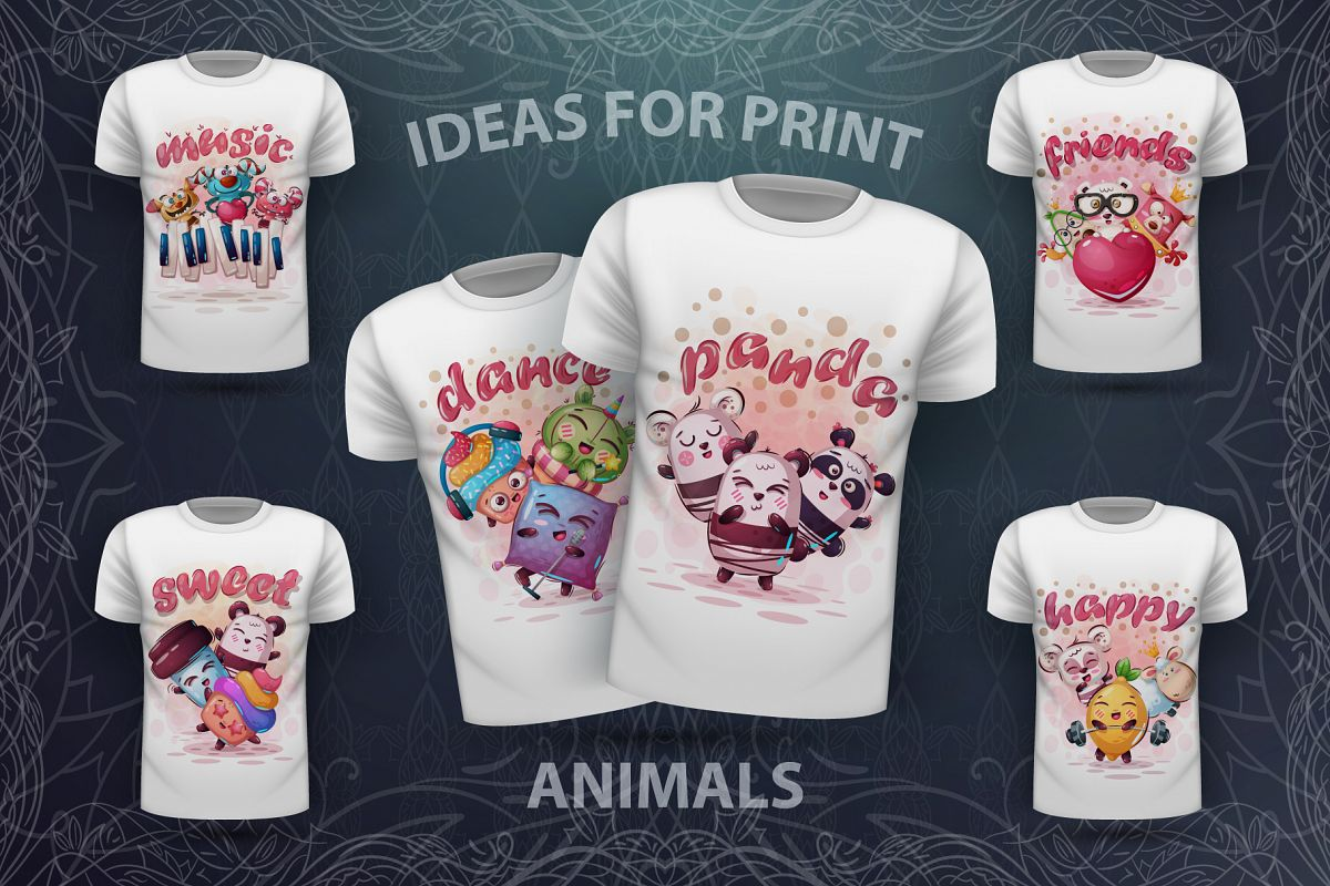 Sweet animals - for print t-shirt example image 1