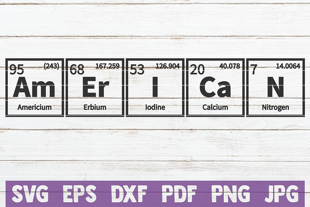 American Periodic Table SVG Cut File | commercial use example image 1