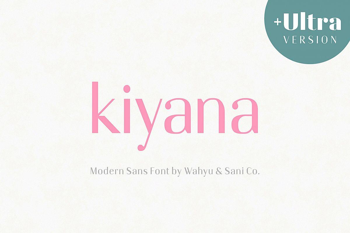 Kiyana   Modern Sans Font example image 1
