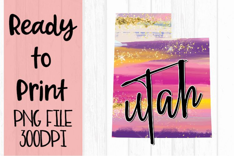 Utah Painted States Ready to Print example image 1