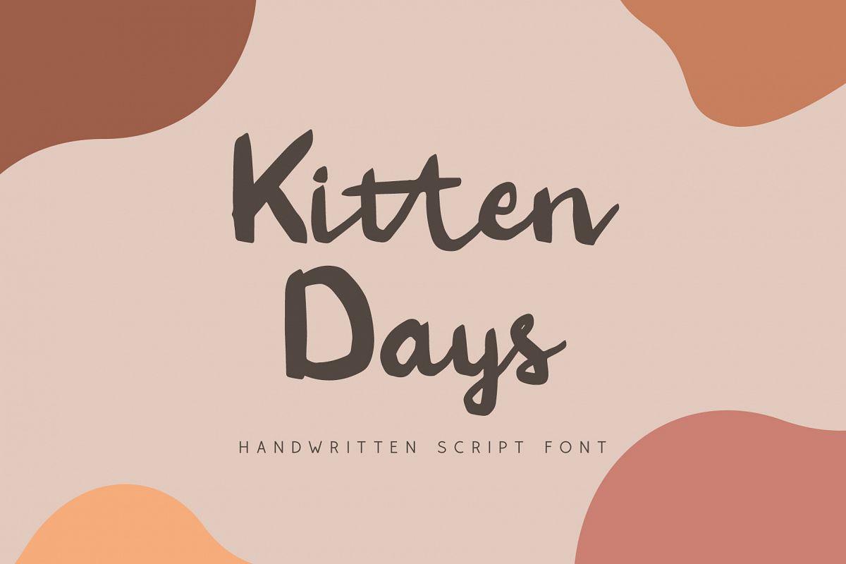 Kitten Days - Handwritten Font example image 1