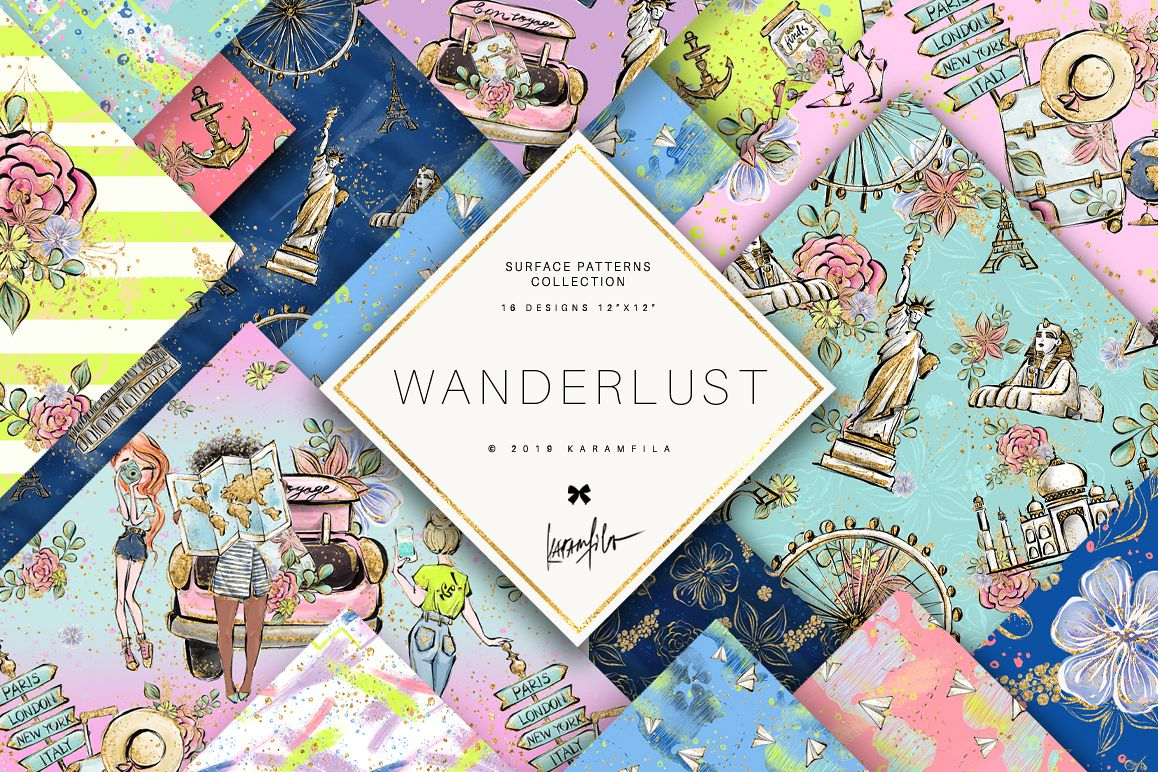 Wanderlust Patterns example image 1