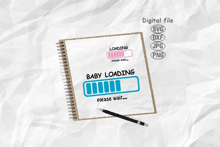 Baby Loading Svg, Maternity Svg, Loading Svg, Pregnant Svg example image 1