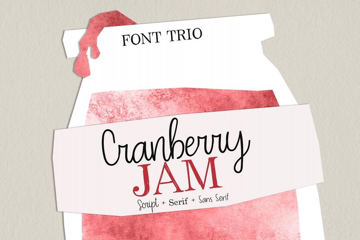 Cranberry Jam Font Trio. example image 1