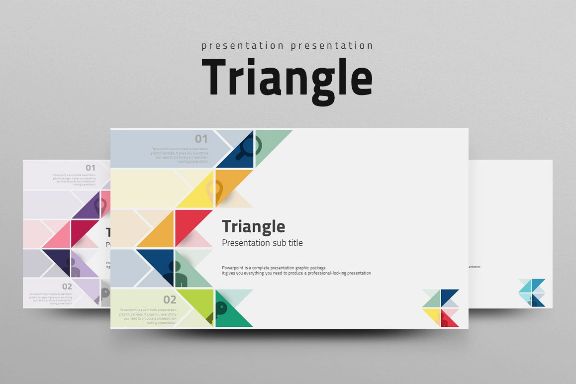 Triangle Pattern Ppt Template