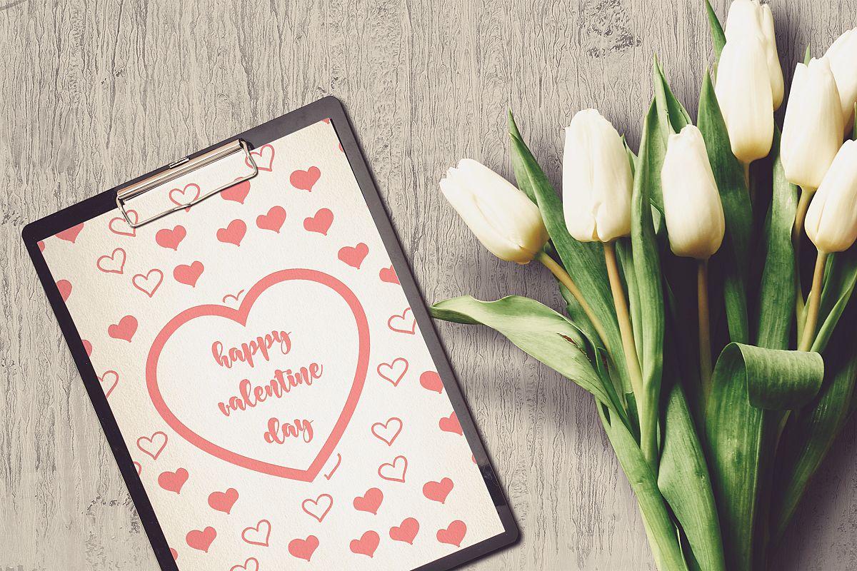 Valentine A4 Letter Mock-up #4 example image 1