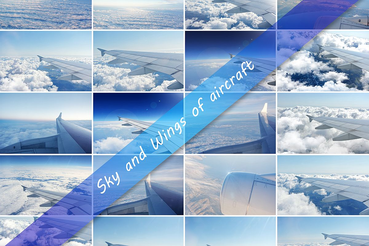 20 Photos clouds and wings of airplanes example image 1
