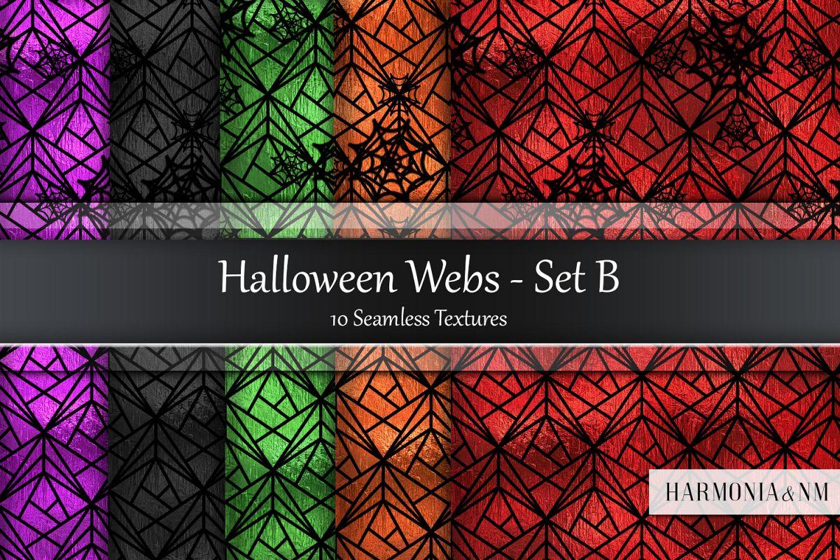Halloween Webs Set B Seamless Textures example image 1