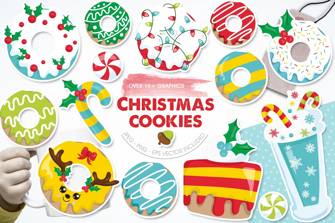 Christmas Cookies and Donuts graphics and illustrations example image 1