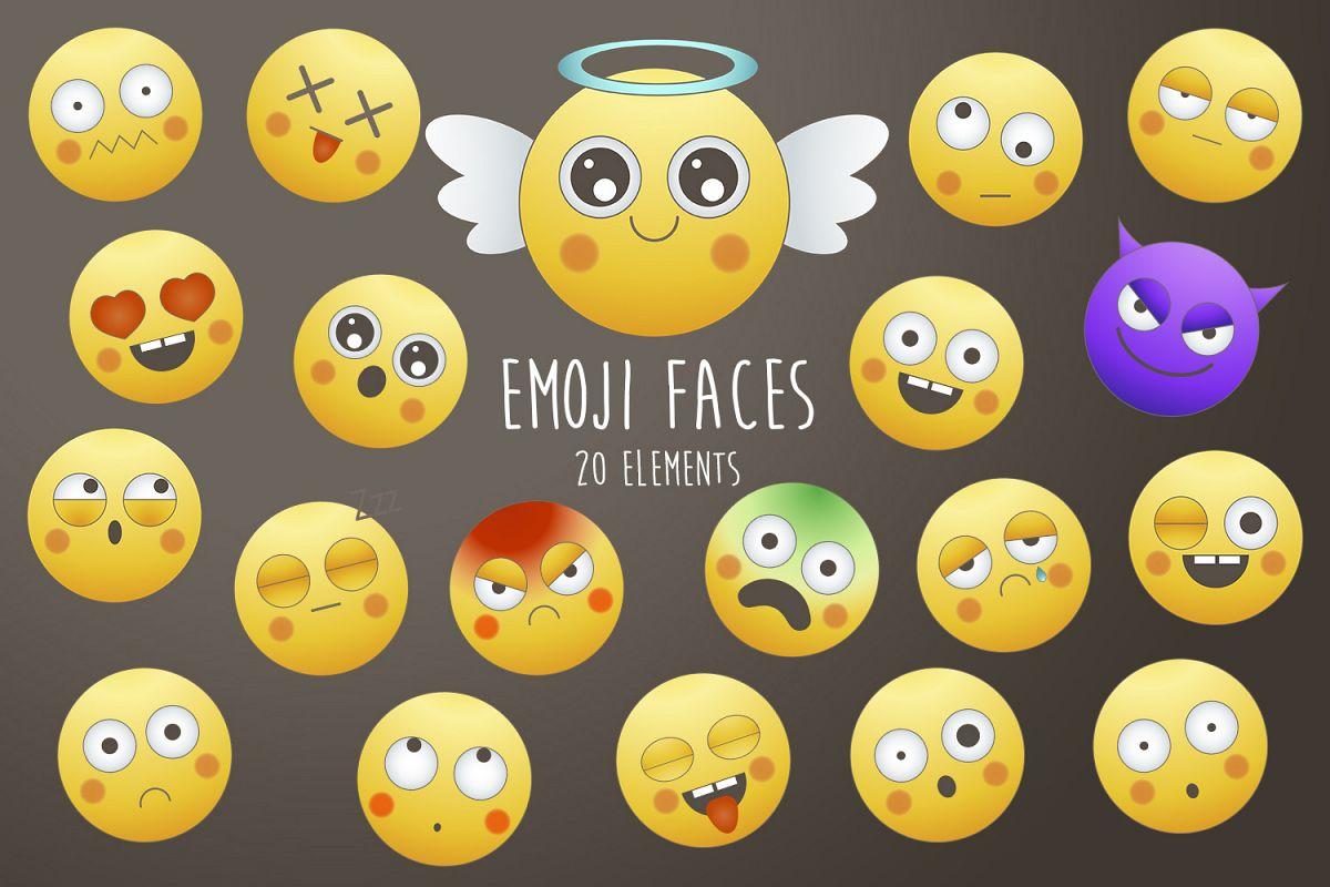 Emoji faces example image 1