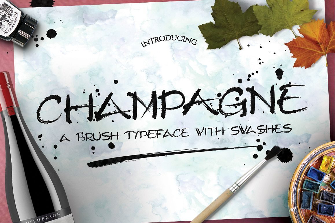 Champagne Typeface example image 1