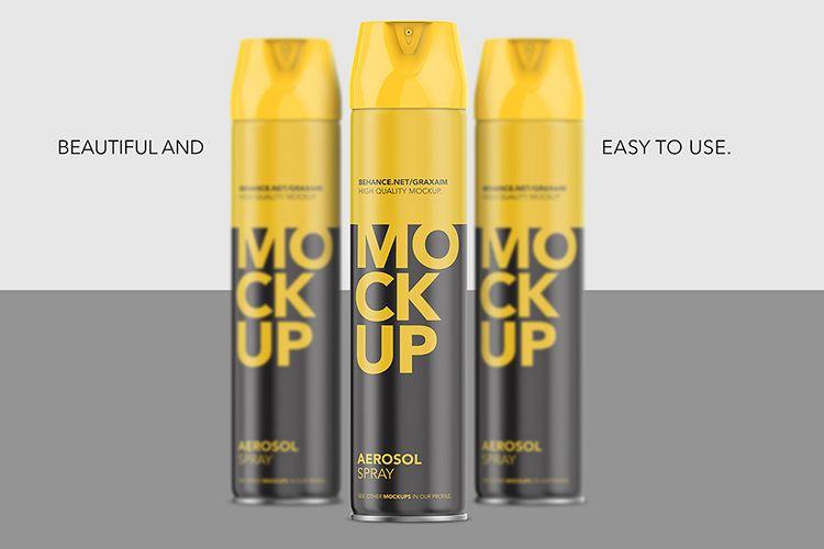 Aerosol Spray Mockup - Matte Front Mockup Tall example image 1