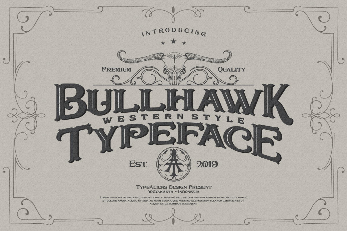 Bullhawk Layered Font Extra example image 1