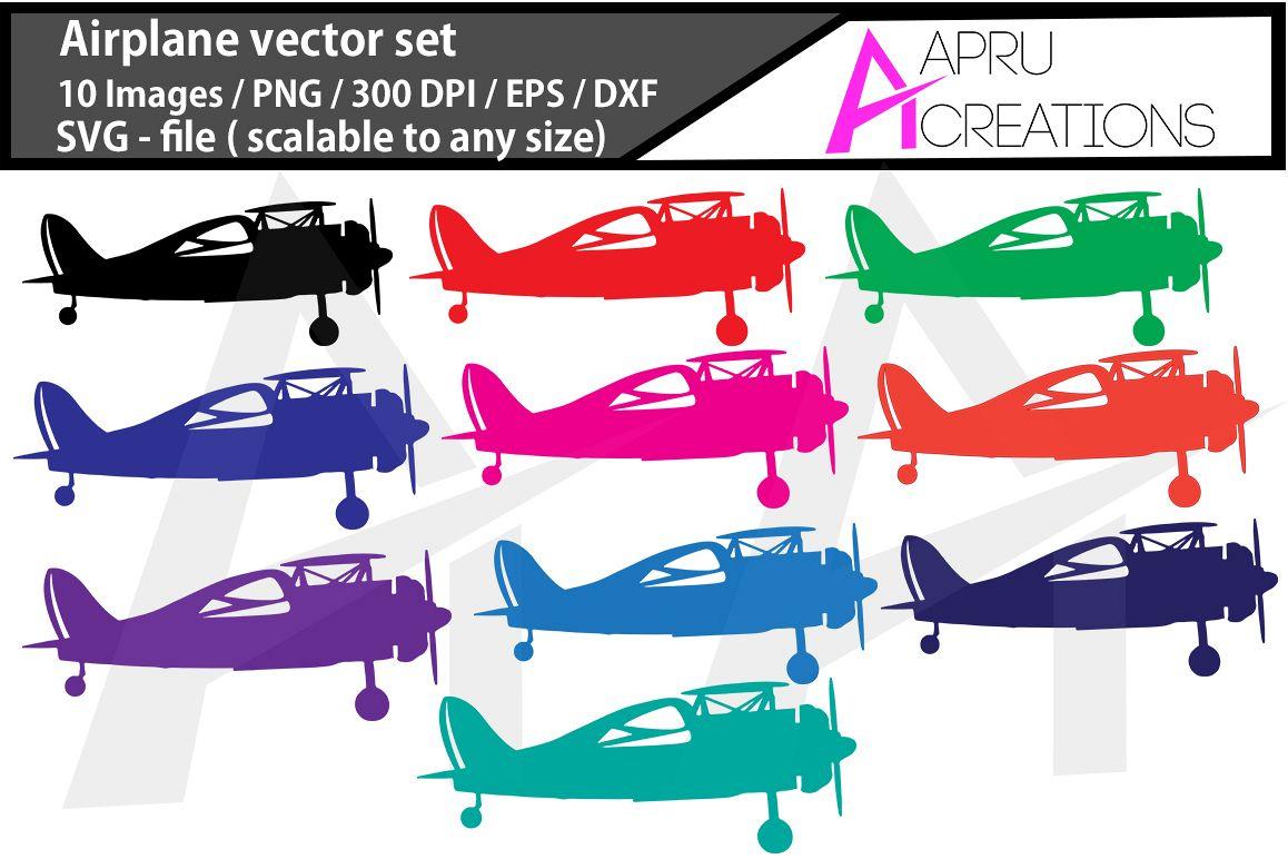 Airplane, aeroplane colour images,  printable aeroplane,  SVG cut FILES, airplane silhouette, digital files example image 1