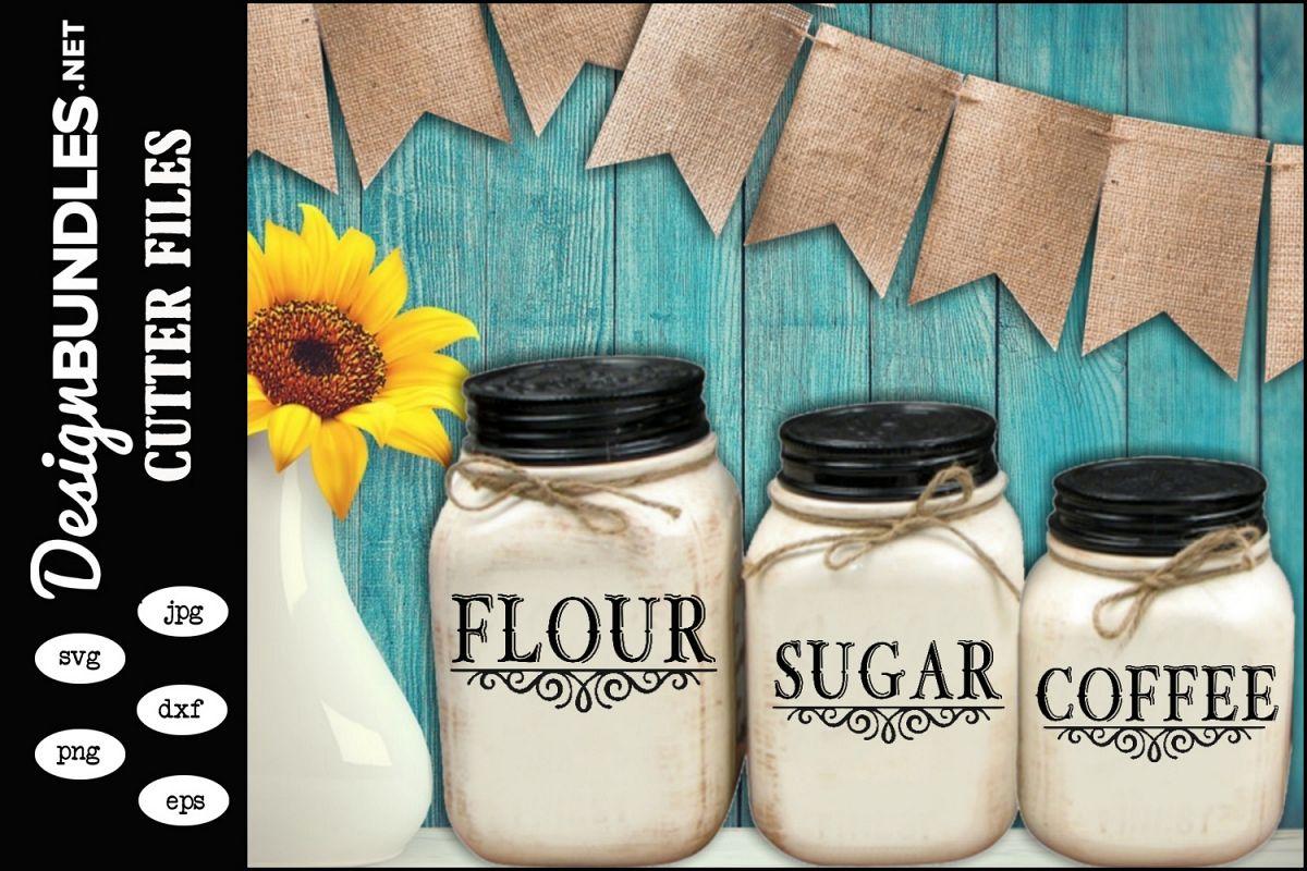 Flour Sugar Coffee SVG example image 1