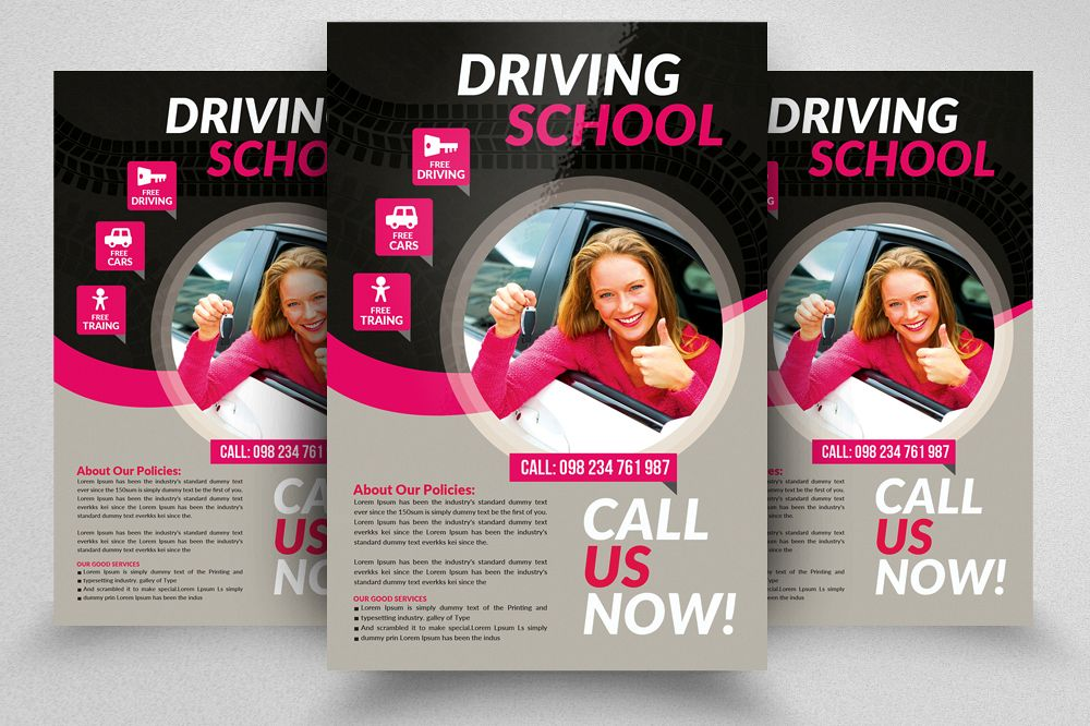Driving Learning School Flyers example image 1