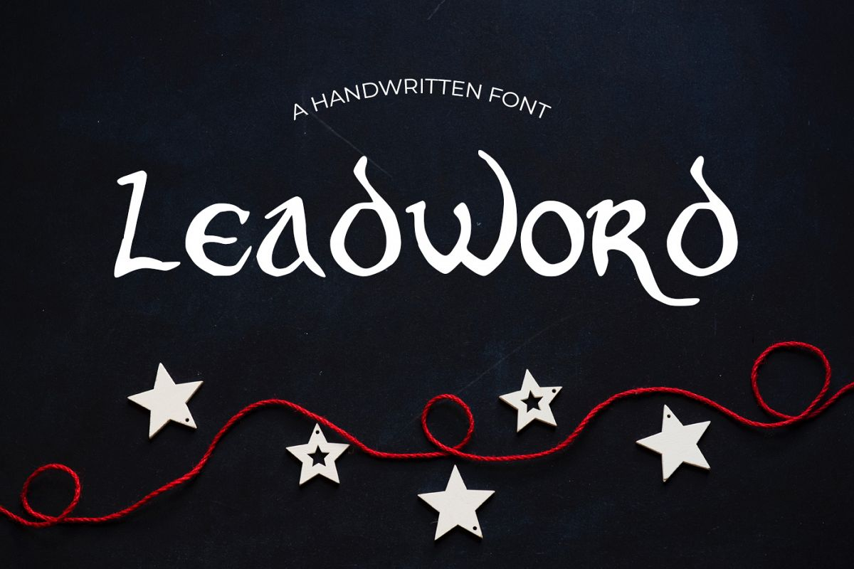 Leadword Font example image 1