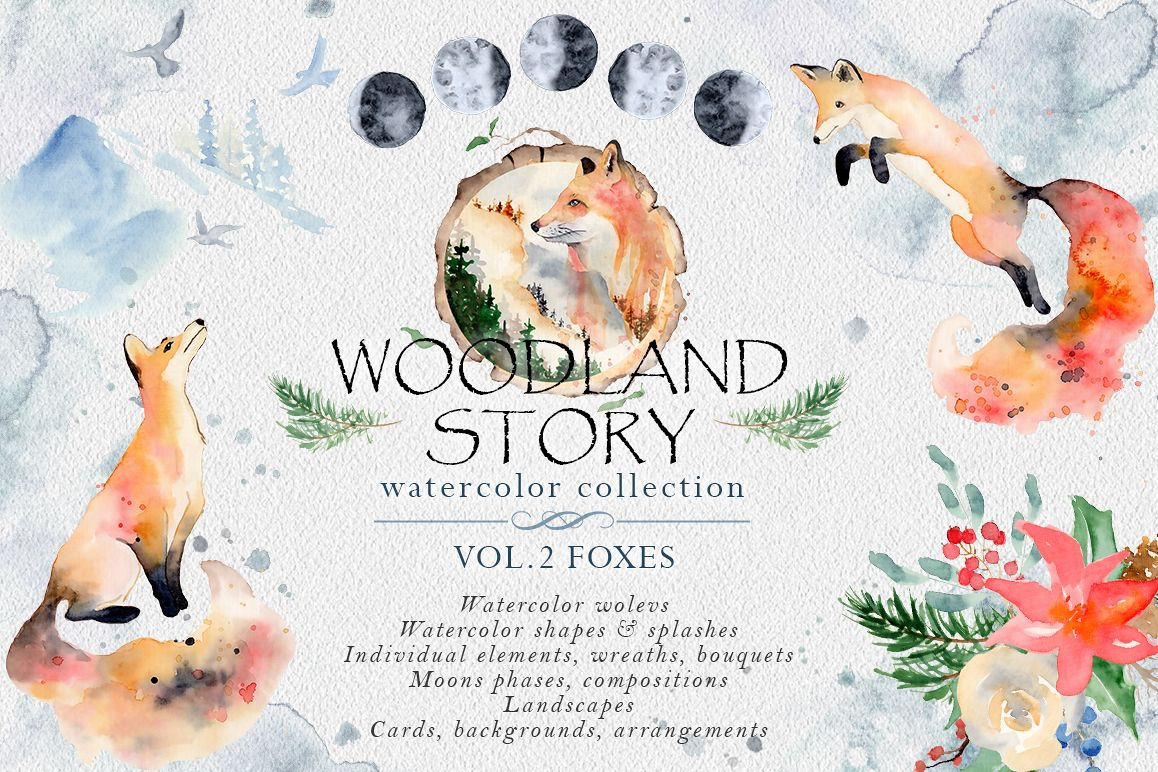 Woodland story Vol.2 Foxes example image 1