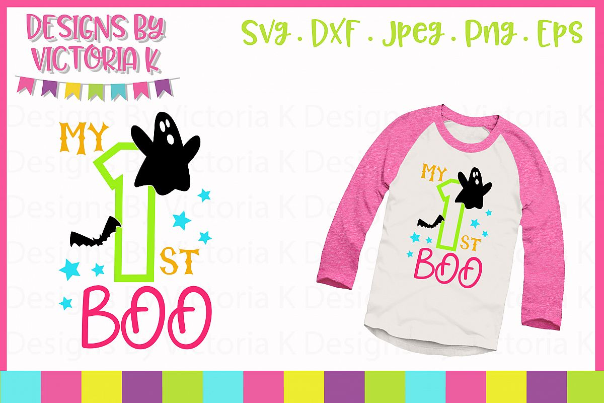 my 1st boo halloween svg dxf png example image
