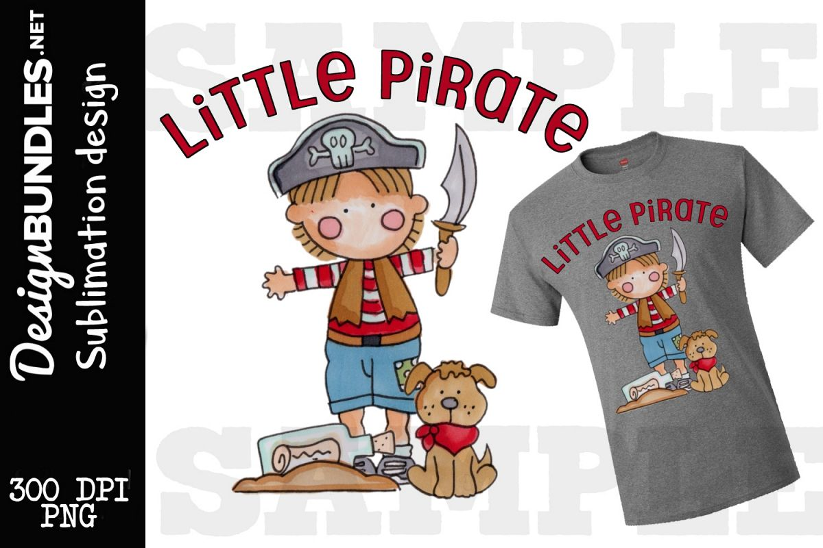 Little Pirate Sublimation Design example image 1
