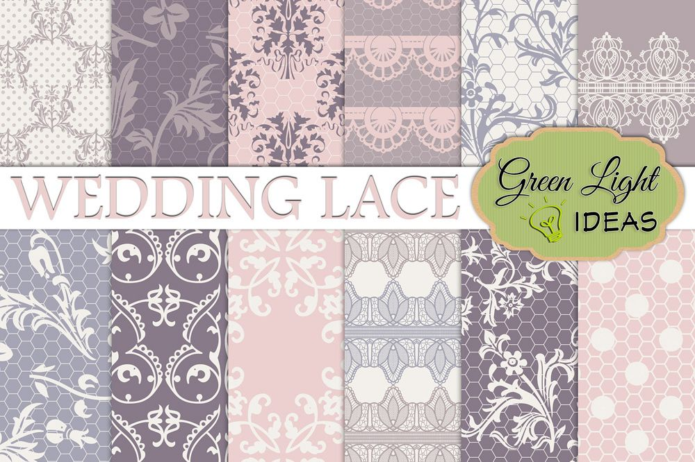 Wedding Lace Digital Papers example image 1