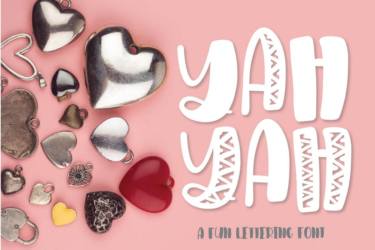 YAHYAH - A Fun Quirky Hand Lettered Font example image 1