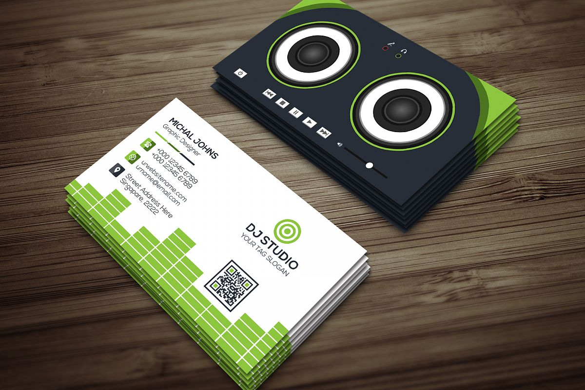 DJ Studio Business Card by Jahanzaib Al | Design Bundles