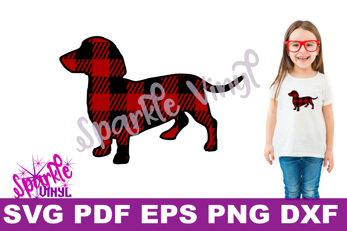 Dachshund Dog Printable With Svg Files For Cricut Or Silhouette Use As Clipart Decal Vinyl Stencil