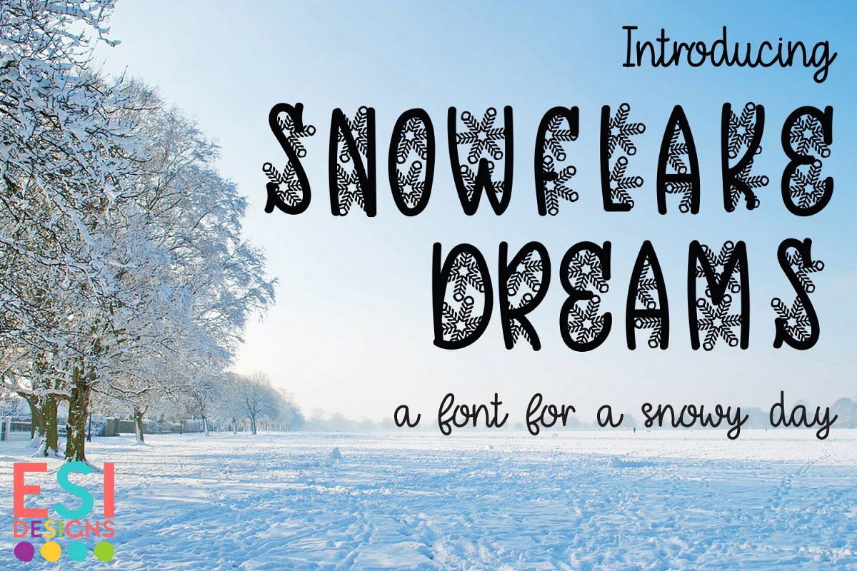 Snowflake Dreams | A Wintery Christmas Font example image 1