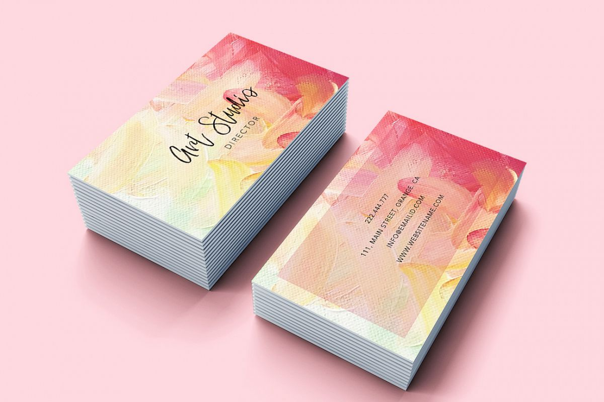 Art Brush effects beautiful business card example image 1