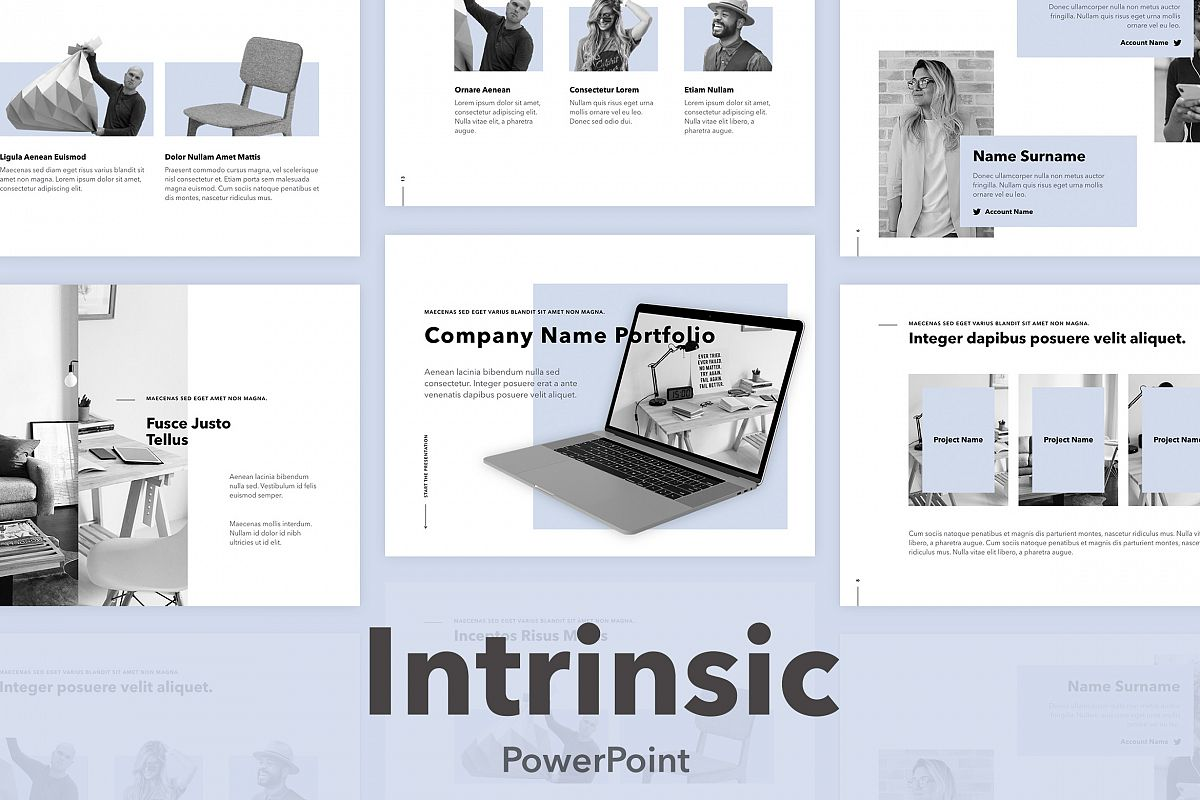 Intrinsic PowerPoint Template example image 1