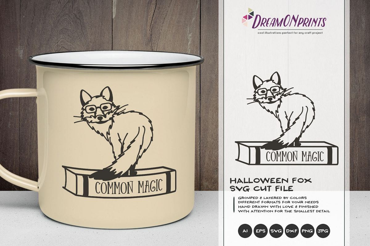 Fox Witch SVG | Funny Halloween SVG | Magic SVG Cut File example image 1