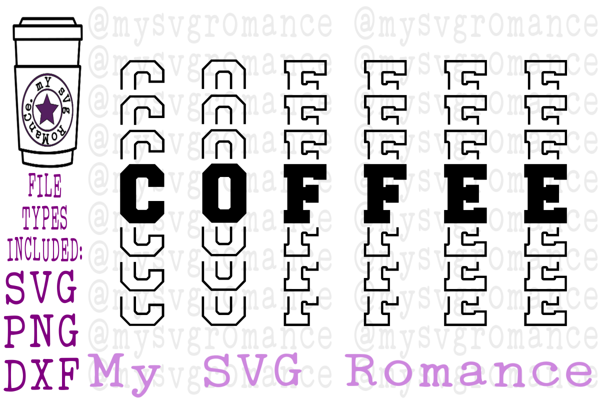 Coffee - Word Mirror SVG PNG DXF example image 1