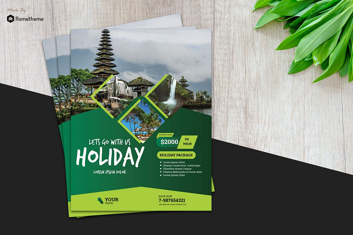 Holiday Travel Flyer vol. 03 example image 1