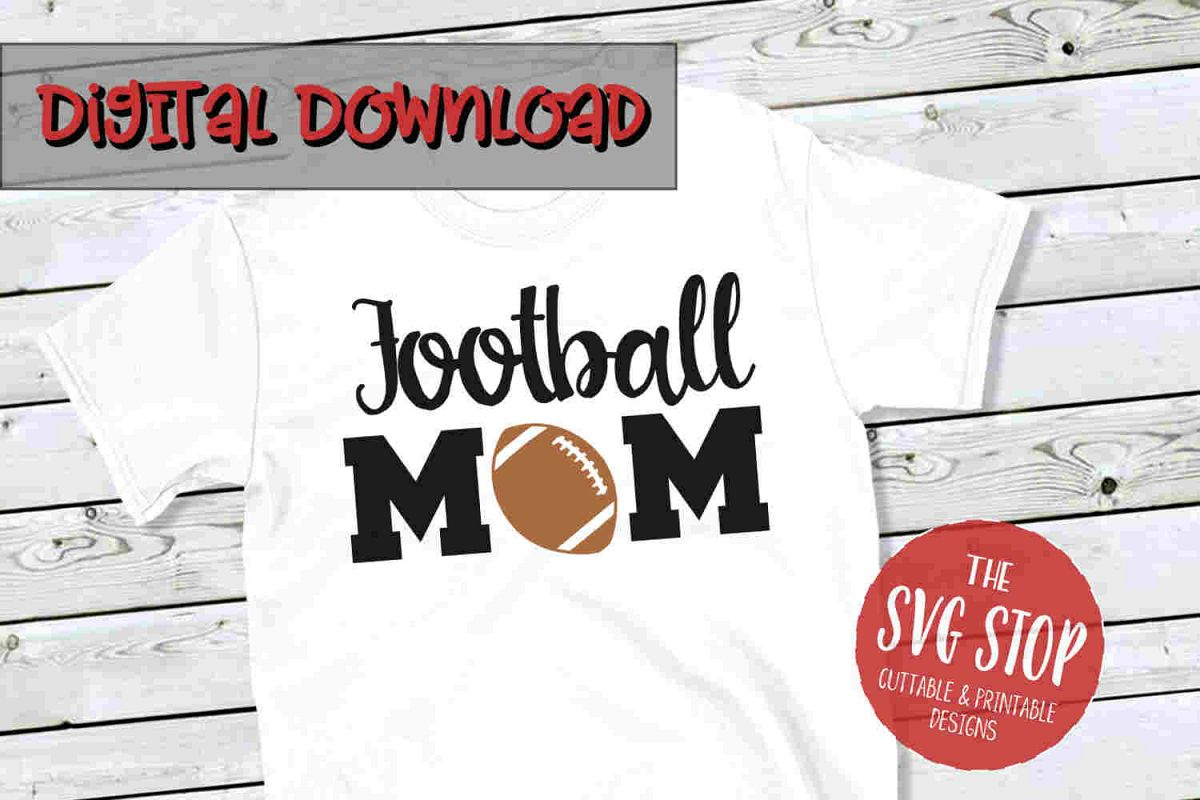 Football Mom 2-SVG, PNG, DXF example image 1