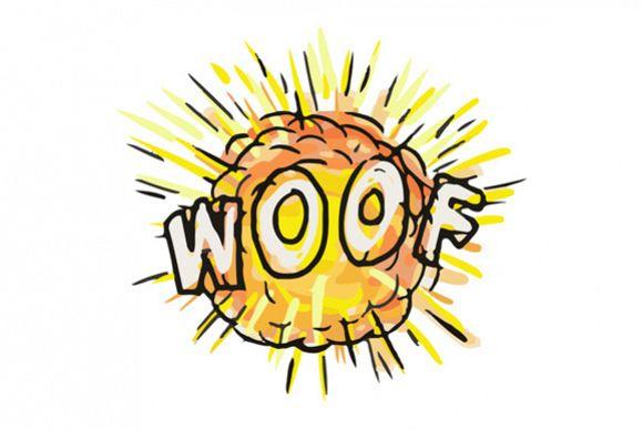 Explosion Woof Cartoon example image 1