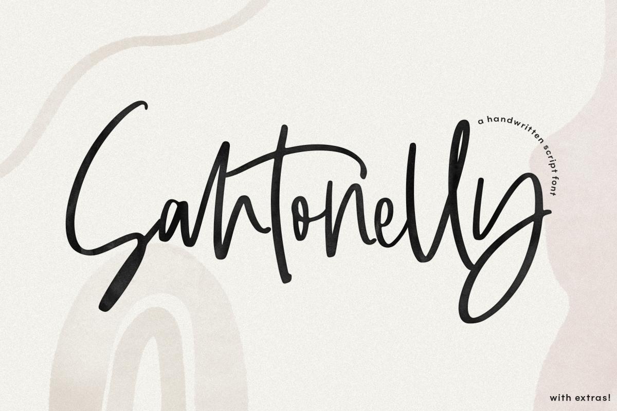 Santonelly - Handwritten Script Font example image 1