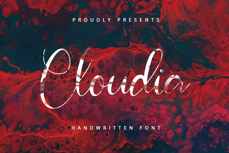 Cloudia - Handwritten Font example image 1