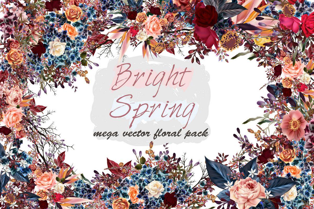 Mega vector floral set example image 1