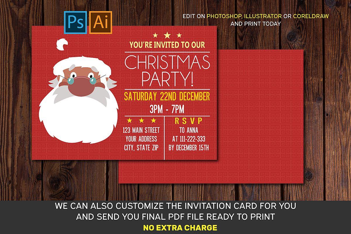 Christmas Invitation Card Ai Eps Psd Files