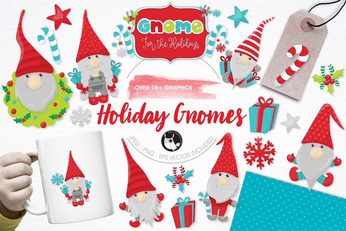 Holiday Gnomes graphics and illustrations example image 1